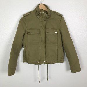 Zara Green Utility Pocket Army Jacket